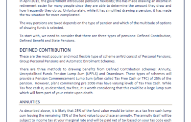 How pensions are taxed